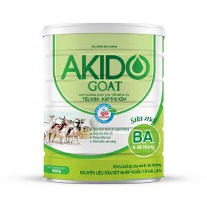 Sữa Akido Goat Ba 6-36 tháng tiêu hóa hấp thụ kém